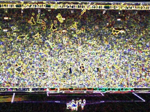 Die Südtribüne stand at the Dortmund's Westfalenstadion: boasting space for 25,000 standing spectators