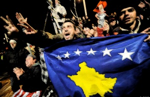 Kosovan fans get behind their team