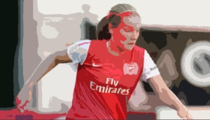 Kim Little - ever a goal-threat for Arsenal